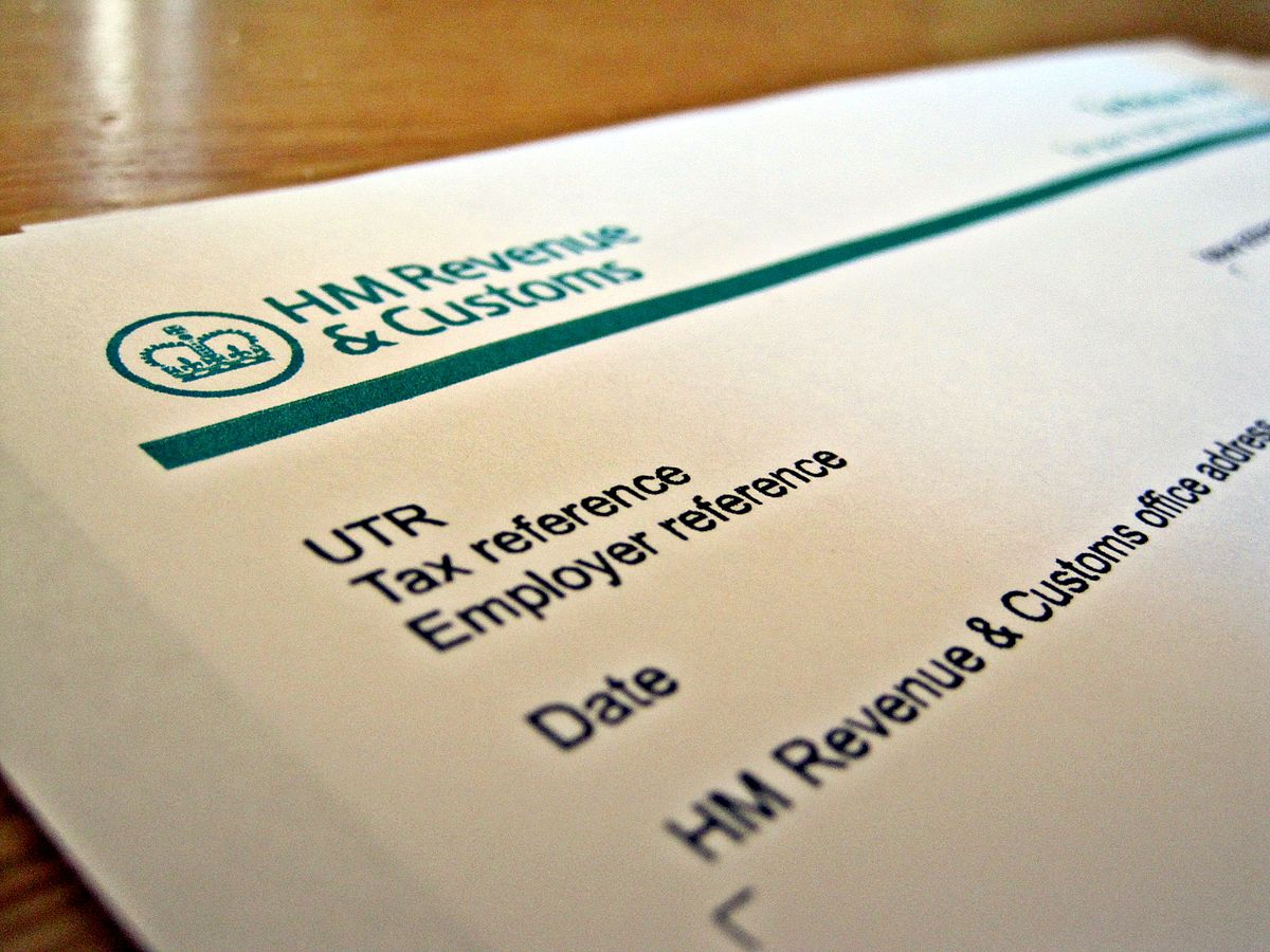 close up of HMRC letterhead